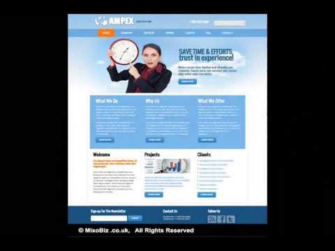 Business related web design samples ( MixoBiz )