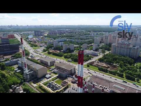 Аэросъемка ГЭС в Подмосковье.