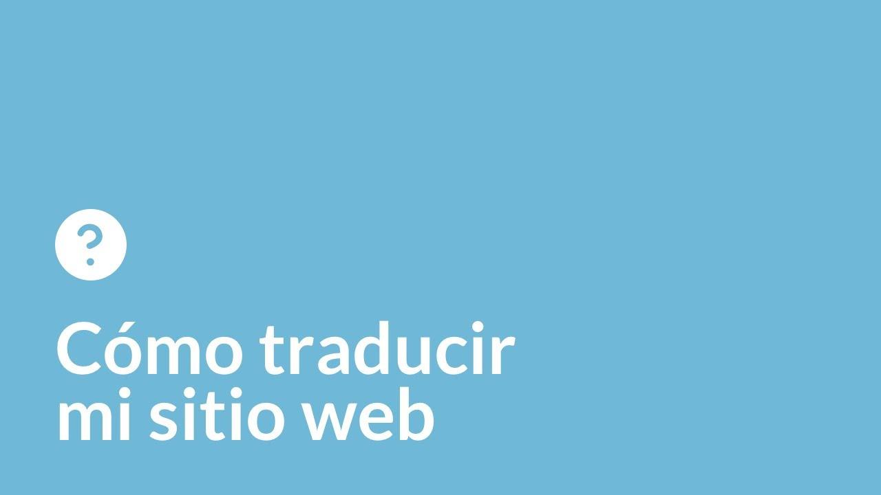 Cómo traducir mi sitio web