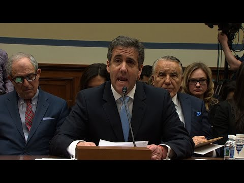 "Former Trump lawyer Michael Cohen is telling Congress President Donald Trump lied to the American people about negotiations over a proposed Trump Tower building in Russia. Cohen says Trump made it clear ""that he wanted me to lie."" (Feb. 27)"