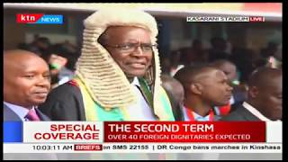 CJ Maraga arrives at the Safaricom Stadium Kasarani for the inauguration