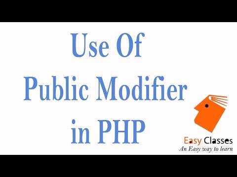 comment modifier en php