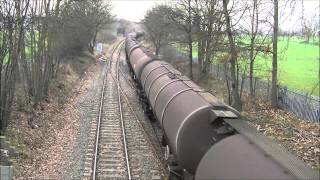 preview picture of video '(HD) EWS 66035, Dudding Hill Junction, 12/01/2013.'