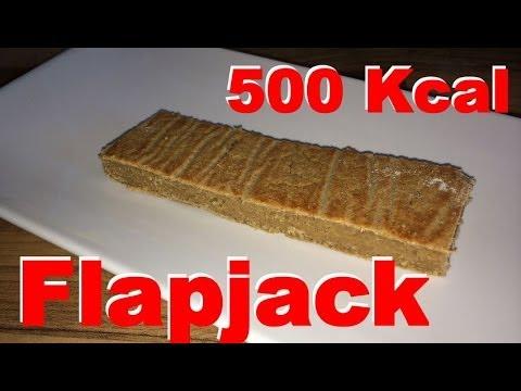 Flapjack Riegel mit 500 Kcal - Masseaufbau Snack selber machen