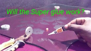 How to attach, glue metal legs to a glass table top/How to fix glass on table top