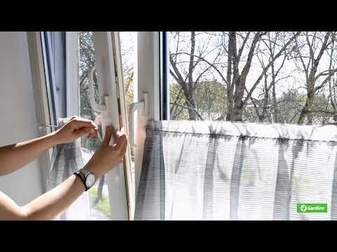 4Gardine Gardinendraht Befestigung Set für 2 Fensterrahmen Ohne Bohren oder Kleben