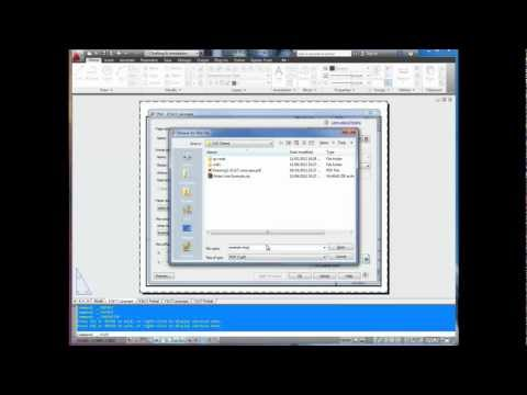 AutoCAD Tutorial: How to Print Drawing to PDF Free