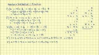 Four Operations - Addition And Subtraction PRACTICE