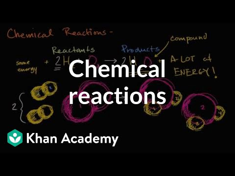 Chemical reactions introduction (video) | Khan Academy