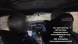 Supercharged Nissan Pulsar at Pahaheke Road rally sprint 22/02/20