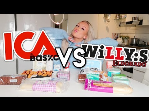 ICA VS WILLYS │Vem har bäst produkter? (STORT test)