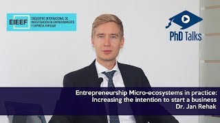 Entrepreneurship Micro-ecosystems in practice: Increasing the intention to start a business
