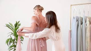 The Mira | How To Wear And Tie This Convertible Chiffon Bridesmaid Dress By Jenny Yoo