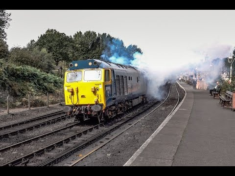 Class 50 'Clag Monster' with 50035 'Ark Royal' in The Severn…