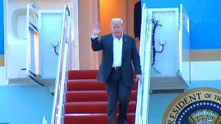 President Trump arrives in Washington DC after Singapore summit with Kim Jong Un  June 13, 2018  Joi