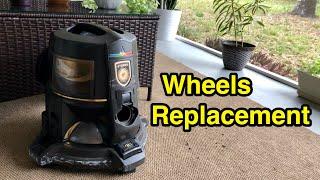 How to replace Rainbow vacuum wheels - D4, D4C, SE, E, E2 series.