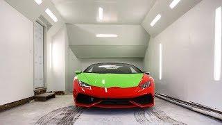 We Built The Ultimate DIY Paint Booth for the Lamborghini Huracan