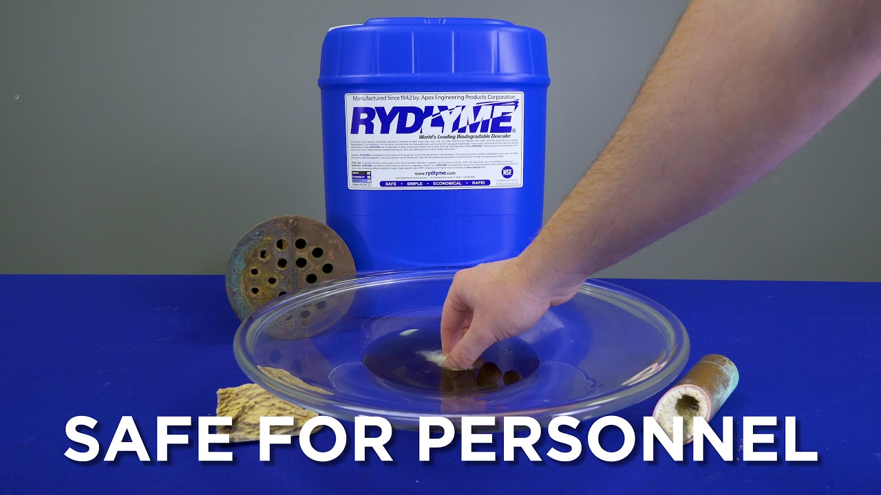 RYDLYME Biodegradable Descaler is Safe on Copper and Tough on Scale!