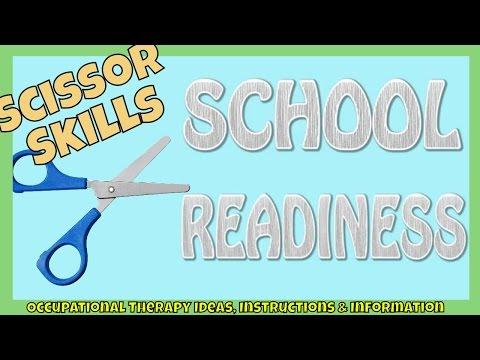 Screenshot of video: Scissor readiness for School