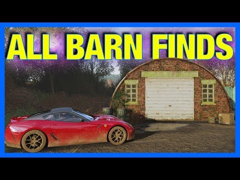Forza Horizon 4 : ALL BARN FINDS + LOCATIONS!!