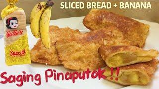 Pritong SAGING PINAPUTOK Sweet Banana Pie Crunch | Filipino Dessert Recipe | Snacks Ideas Easy