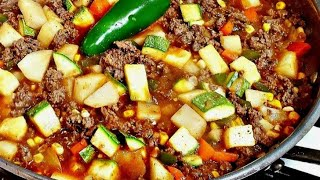 Mexican Style Picadillo Recipe for Tacos | How To Make Ground Beef Picadillo | Simply Mama Cooks