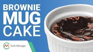 Keto Brownie Mug Cake Recipe (Low Carb Dessert)