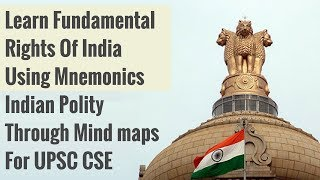 Easy Way To Learn Fundamental Rights Of India Using Mnemonics - Polity through Mindmaps for UPSC CSE