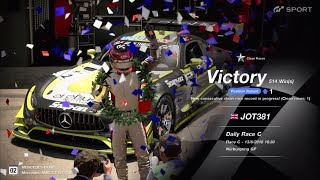 JOT381 GRAN TURISMO SPORT 130618 NURBURGRING MERCEDES GT 2nd to 1st ONLINE RACE 10 LAPS 514th WIN