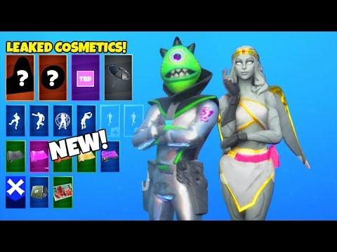 *NEW* Encrypted Skins..! (Area 51 Alien, Female Cupid, UFO pickaxe LEAKED) Fortnite Battle Royale