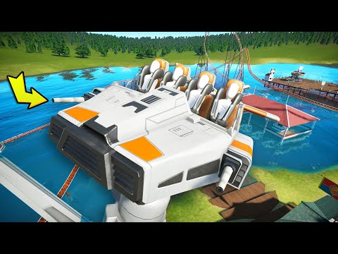 I attempted to build a spaceship in Planet Coaster to get GOLD? (Planet Coaster Campaign)