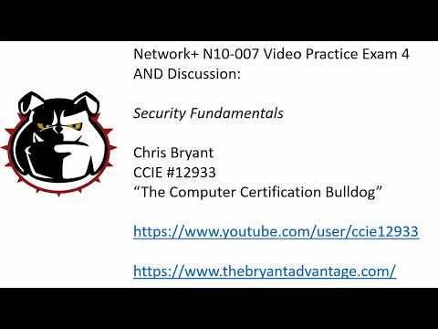 Network+ N10-007 Video Practice Exam 4: Network Fundamentals ...