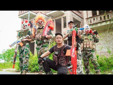 NERF WAR : Dangerous Task Warriors SWAT Nerf Guns Fight Criminal Group Mask