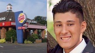 Homeless man asks Burger King worker