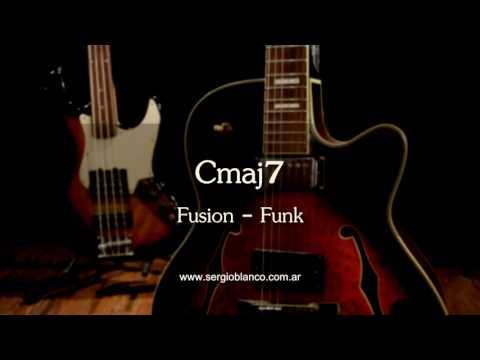 Backing Track Fusion Funk Modal Cmaj7 un solo acorde (one chord) guitar jam training