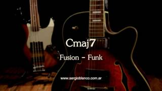 Backing Track Fusion Funk Modal Cmaj7 Un Solo Acorde (one Chord) Guitar Jam Training