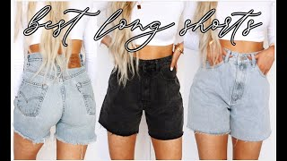BEST LONG SHORTS TRY-ON | cover your butt + comfy!