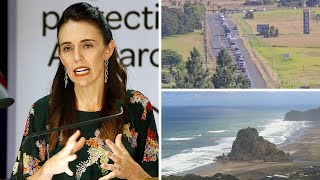 video: New Zealand tsunami threat: Thousands flee to high ground as earthquakes trigger small waves