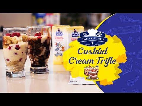 Most Delicious Custard Cream Trifle