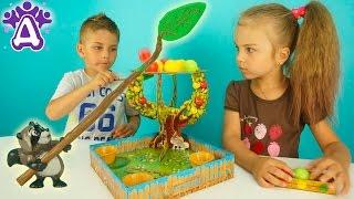 Сбиваем яблоки Игры Для Детей Распаковка Unboxing toys Apple POP Развивающая Игра для Детей Розыгрыш