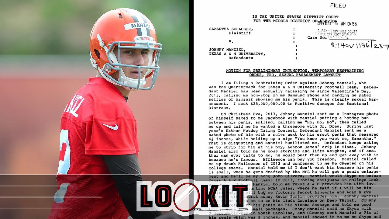 Johnny Manziel sexual harassment lawsuit crazy claims and details (#LOOKIT) thumbnail