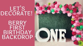 Decorate With Me Series - Strawberry Themed Backdrop | Boxwood Hedge | First Birthday Decorations