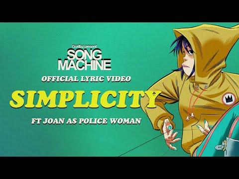 Gorillaz - Simplicity ft. Joan As Police Woman (Official Lyric Video)