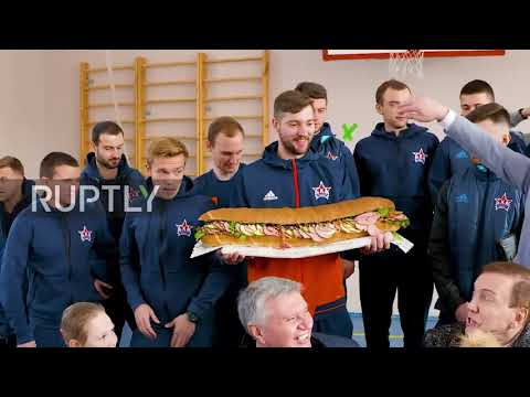 A bear, rocket-man and giant sandwich - oddballs wow Russian voters during election