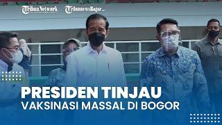 Jokowi Tinjau Vaksinasi Massal di Stadion Pakansari Bogor, Presiden Instruksikan Ini ke Bupati
