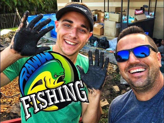 RAWW FISHING small BACKYARD PONDS and WATERFALLS