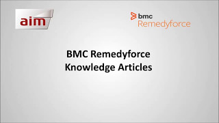 BMC Remedyforce - Knowledge Articles
