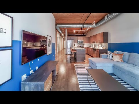 A furnished Streeterville 2-bedroom, 2-bath #4105 at The Lofts at River East