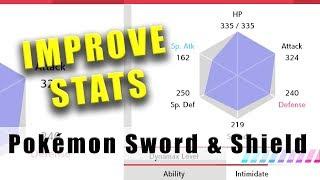 Pokémon Sword and Shield how to improve stats like a BOSS