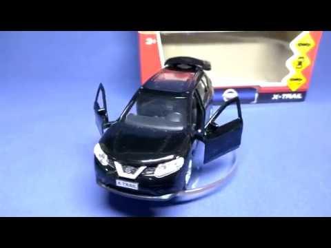 Nissan x-trail - моделька в масштабе 3D обзор (Технопарк) V2